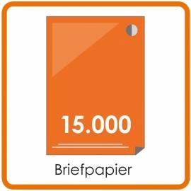 15000 X A4 Briefpapier 29.7x21cm enkelzijdig full colour offset