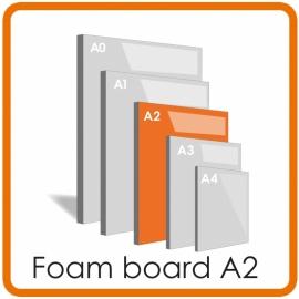 A2 Foamboard  - 42.0 x 59.4cm  (5 mm) LET OP: Wij bezorgen geen A1 en A2 Foamboards als gevolg van evt schade door de postverzending. Graag alleen ophalen s.v.p.