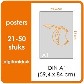 A1 Posters - prijsgroep voor 21 t/m 50 stuks. Print Formaat: 840mm x 594mm. Posterpapier: PrimeArt Semi-Gloss 200 gm² (Prijs Per stuk)