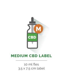 Medium CBD Label - Vanaf 25 stuks