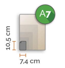 Outdoor Premium stickers, A7 (7.4x10.5cm) , full colour, enkelzijdig bedrukt