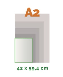 A2 Stickers outdoor (42 x 59,4 cm)