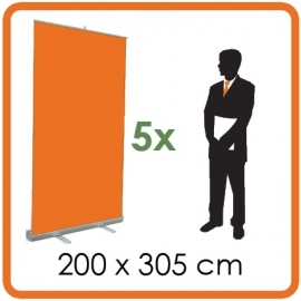 5 X Rollup 200 x 305cm