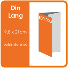 Folders, eindformaat: Din Lang 9.8 x 21cm. vouwwijze: Wikkelvouw 6-zijdig. bedrukking: dubbelzijdig full colour. materiaal: 300gr. aantal: 100,000 st.