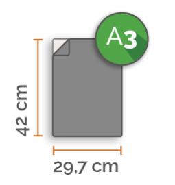 Outdoor Premium stickers, A3 (29,7 x 42 cm)  , full colour, enkelzijdig bedrukt