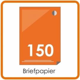 150 X A4 Briefpapier 29.7x21cm enkelzijdig full colour Digital
