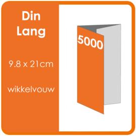 Folders,  eindformaat: Din Lang 9.8 x 21cm. vouwwijze: Wikkelvouw 6-zijdig. bedrukking: dubbelzijdig full colour. materiaal: 300gr. aantal: 5000 st.