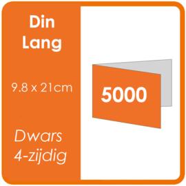Folders (met vouw) DIN lang 9,8 x 21 cm Dwars 4-zijdig 4/4 dubbelzijdig full colour Aantal: 5.000 stuks