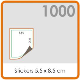 Stickers op rol - Stickers 5,5 x 8,5 cm - 1000 stk.
