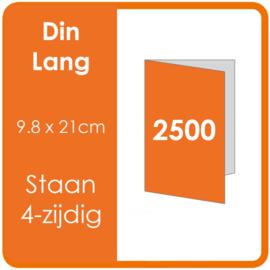 Folders (met vouw) DIN lang 9,8 x 21 cm Staand 4-zijdig 4/4 dubbelzijdig full colour Aantal: 2.500 stuks