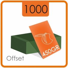 1000 Visitekaartjes - 450gr. - dubbelzijdig   full colour met dispersielak