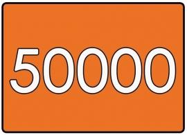 50000 X A7 7.4x10.5cm offset enkelzijdig full colour 170gr. recyclingpapier