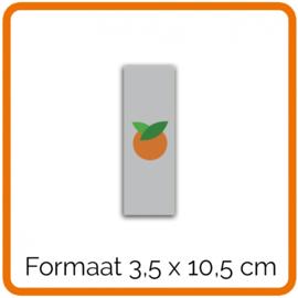 Outdoor Premium stickers, Formaat 3,5 x 10,5 cm    , full colour, enkelzijdig bedrukt