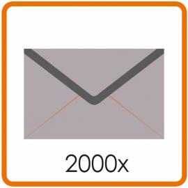 2000 X Enveloppen EA5/6 11 X 22cm enkelzijdig full colour