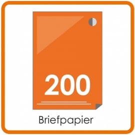 200 X A4 Briefpapier 29.7x21cm enkelzijdig full colour Digital