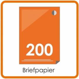 200 X A4 Briefpapier 29.7x21cm enkelzijdig full colour Digital