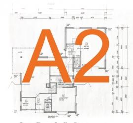 Bouwtekening A2 - 42,0 x 59,4 cm.