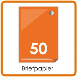 50 X A4 Briefpapier 29.7x21cm enkelzijdig full colour Digital