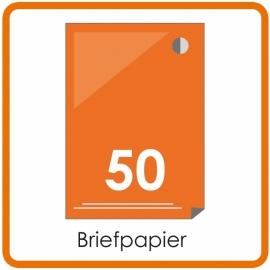 50 X A4 Briefpapier 29.7x21cm enkelzijdig full colour Digital