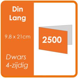 Folders (met vouw) DIN lang 9,8 x 21 cm Dwars 4-zijdig 4/4 dubbelzijdig full colour Aantal: 2.500 stuks