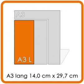 150 X A3 Lang 14x29.7cm enkelzijdig digitaal full colour