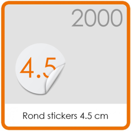 Stickers op rol - rond Stickers 4,5 cm - 2000 stk.
