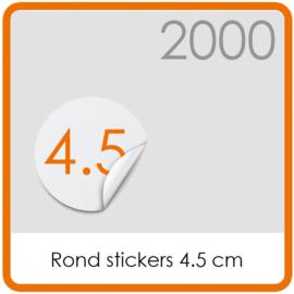 Stickers op rol - rond Stickers 4,5 cm - 2000 stk.