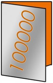 100.000 X A3 Lang 14 x 29.7cm 4-zijdig 135gr.