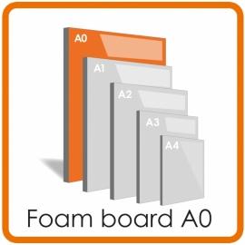 A0 Foamboard  - 84.1 x 118.4cm  (5 mm)  LET OP: POST NL BEZORGT NIET BOVEN DE  METER -  ALLEEN OPHALEN A.U.B