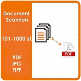 scannen van documenten - 101-1000 stuks. (Prijs Per Pagina / Per kant)