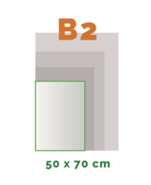B2 Stickers outdoor (50 x 70 cm)