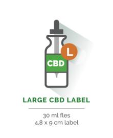 Large CBD Label - Vanaf 20 stuks