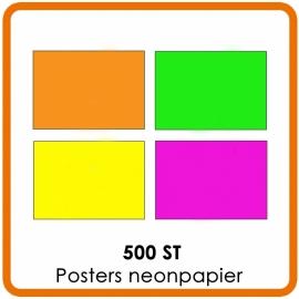 500 X A1 (59.4 x 84 cm) Posters neonpapier