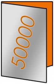 50000 X A3 Lang 14 x 29.7cm 4-zijdig 135gr.