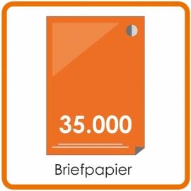 35000 X A4 Briefpapier 29.7x21cm enkelzijdig full colour offset