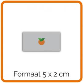 Outdoor Premium stickers, Formaat 5 x 2 cm    , full colour, enkelzijdig bedrukt