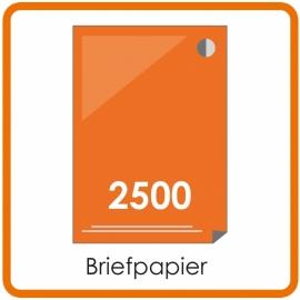 2500 X A4 Briefpapier 29.7x21cm enkelzijdig full colour offset