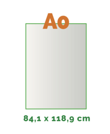 A0 Stickers outdoor (84 x 118,8 cm)