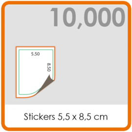 Stickers op rol - Stickers 5,5 x 8,5 cm - 10,000 stk.