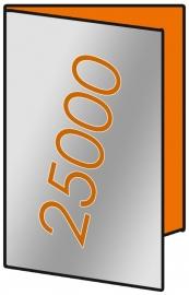 25000 X A3 Lang 14 x 29.7cm 4-zijdig 135gr.