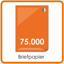 75000 X A4 Briefpapier 29.7x21cm enkelzijdig full colour offset