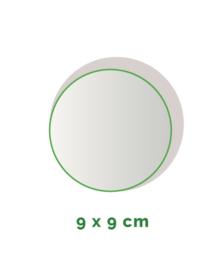 Stickers outdoor - rond doorsnede 9 cm - 4/0 kleurig min. 12 stuks Levertijd: 1 werkdag.