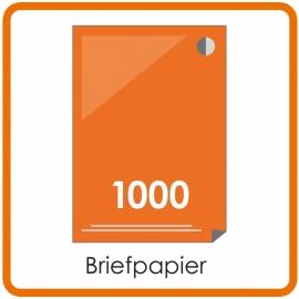 1000 X A4 Briefpapier 29.7x21cm enkelzijdig full colour offset