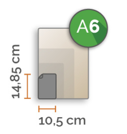 A6 Vinyl stickers min. 4 stuks (10,5 cm x 14,8 cm)