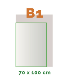 B1 Stickers outdoor (100 x 70 cm)