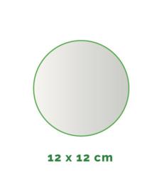 Stickers outdoor - rond doorsnede 12 cm - 4/0 kleurig min. 4 stuks Levertijd: 1 werkdag.