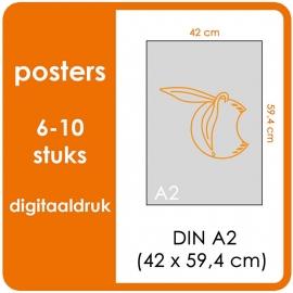 A2 Posters - prijsgroep voor 6 t/m 10 stuks. Print Formaat: 590mm x 420mm. Posterpapier: PrimeArt Semi-Gloss 200 gm² (Prijs Per stuk)