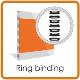Inbinden zonder kaft - Bindring metaal  Wire-O (Geschikt van 1-200 vel. prijs is alleen voor de ring, zonder voor en achter kaft)