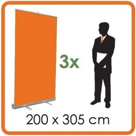 3 X Rollup 200 x 305cm