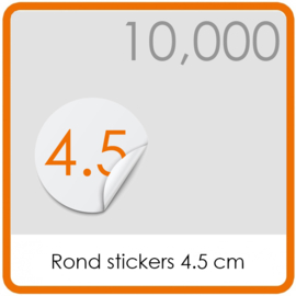 Stickers op rol - rond Stickers 4,5 cm - 10,000 stk.